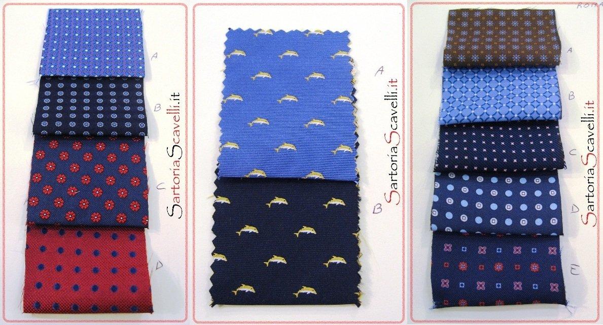 Campionario seta 2012 per Cravatte su misura