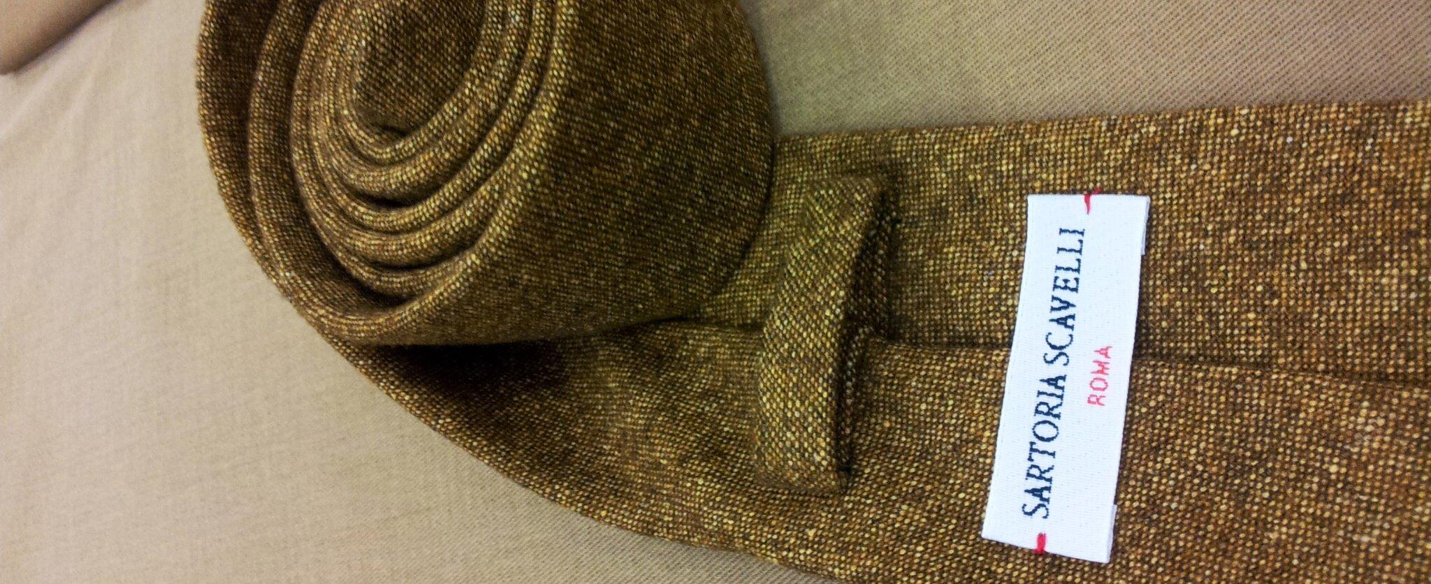 Cravatte sartoriali in lana ~ Sartoria Scavelli