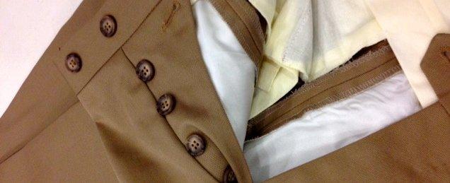 Pantaloni in cotone Ermenegildo Zegna